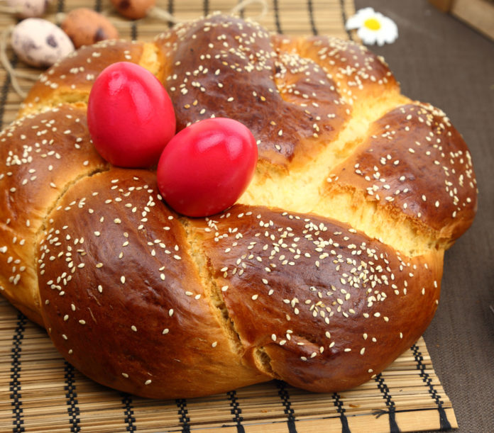 Tsoureki. A Greek Easter tradition.